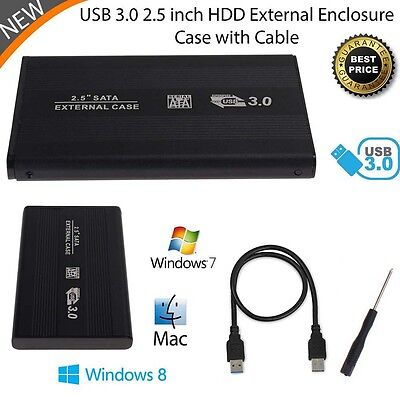 External HDD SSD 2.5inch USB 3.0 Hard Disk Drive Enclosure Case Caddy SATA FT