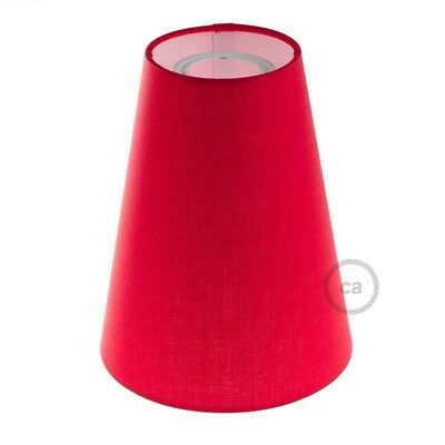 Paralume Cilindro, Ø 16cm h20cm,  Rosso - 100% Made in Italy