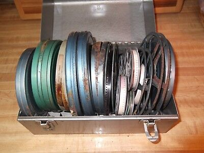 Brumberger Reel Metal Case with Antique Home Movies