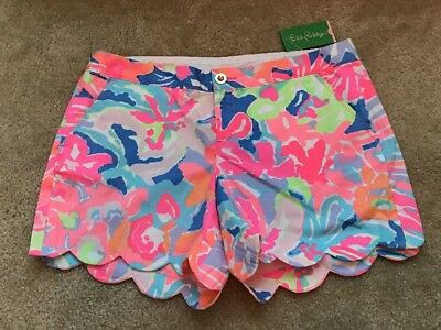 NWT Lilly Pulitzer Buttercup Shorts In Multi Playa Hermosa Size 12
