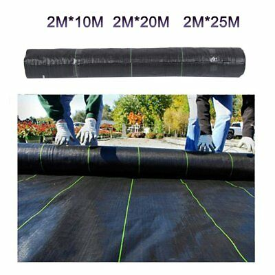 2m Wide ground cover fabric landscape garden weed control membrane heavy duty BY