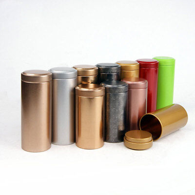 Small Mini Metal Tin Canisters  Tea Sugar Coffee Tea Container Storage Box Jar