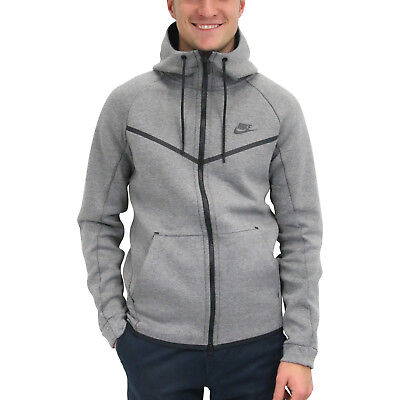 authentic quality popular stores the latest NIKE SPORTSWEAR TECH Fleece Windrunner Hoodie Jacke Herren Grau 805144 091