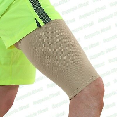 Elastic Compression Thigh Support Sleeve Brace Muscle Injury Wrap Hamstring Gym