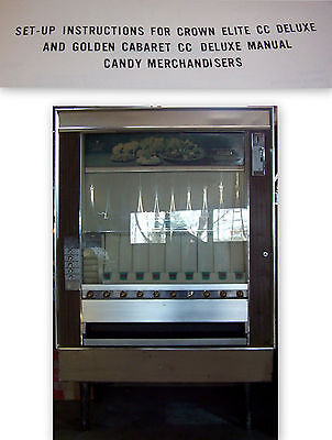 National Vendor Candy Vending Machine MANUAL Crown CC Deluxe (my code #62)