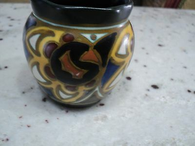 Vintage Art-Crafts Fanny Gouda-Holland Dutch Folk Art Deco Nouveau Vase