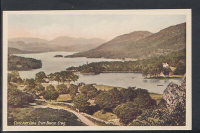 Cumbria Postcard - Coniston Lake From Beacon Crag      RS6794