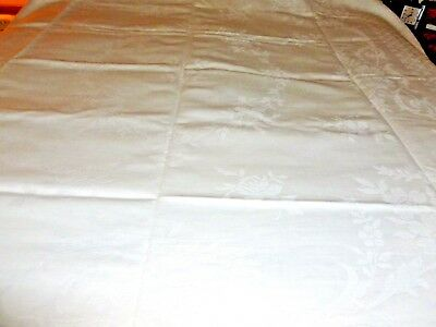 vintage ribbed cotton white bedspread heavy 76 x 92