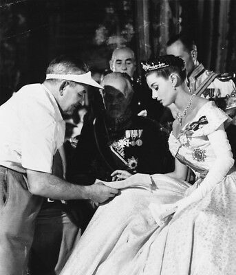 Roman Holiday UNSIGNED photograph - L1770 - William Wyler and Audrey Hepburn