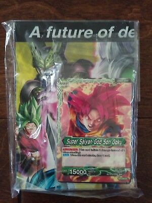 DRAGON BALL SUPER Card Game PROMO HALF DECK Super Saiyan God Son ...