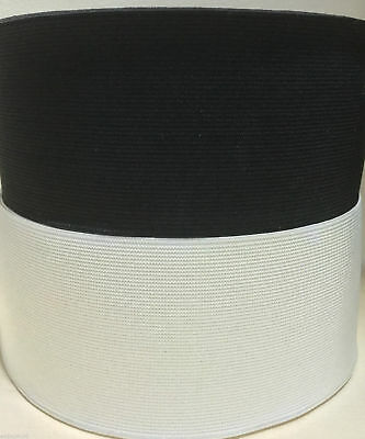 Woven Elastic Premium Quality 3 Inch 75Mm Wide Black Or White Various Lengths