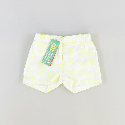 Shorts color Blanco marca Benetton 6 Meses  206787