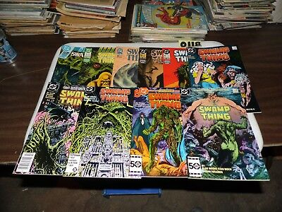 Swamp Thing Lot Alan Moore #38 #46 #52 #53 #59 #63 #64 #76 annual #3 and #4