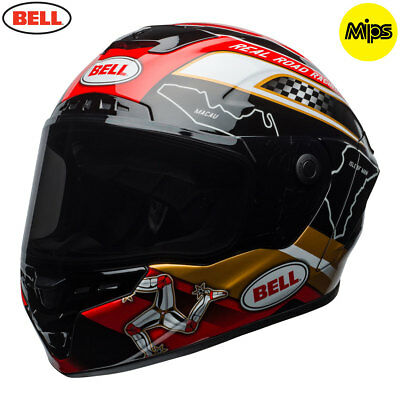 Bell Star MIPS IOM Isle of Man TT 2018 Black Gold Red Gloss LATEST MODEL