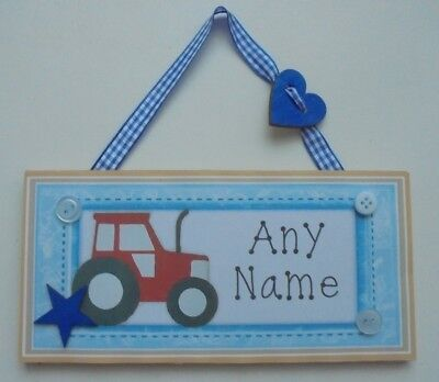Tractor Name Sign Last Name Farm Sign Christmas Gift S1043 Business Decor