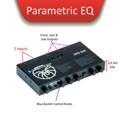 Parametric  Equaliser with 4-Bands SOUNDSTREAM MPQ-5XO Extreme Low Bass EQ!!