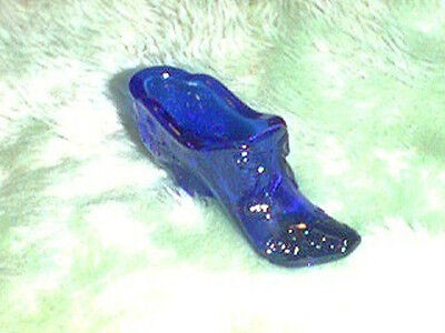 Mosser Cobalt Blue Glass Slipper