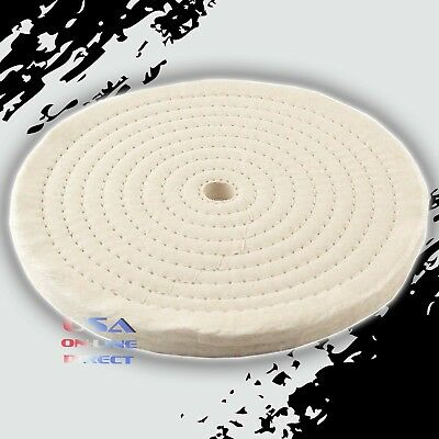 "5pc 8"" Spiral Sew Stitch Cotton Buffing Wheels Metal Polishing Buff Pad Jewelry"