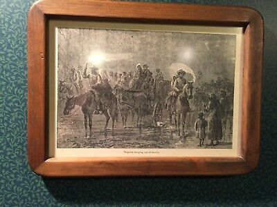 "Vintage ""NEGROES ESCAPING OUT OF SLAVERY"" Frame Print"