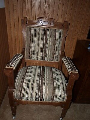 Antique Carved Victorian Eastlake Style Chair