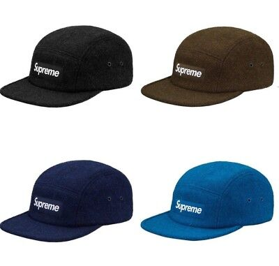 ec8a3a631a8 SUPREME Featherweight Wool Camp Cap Black Teal Navy Olive box logo tnf F W  17