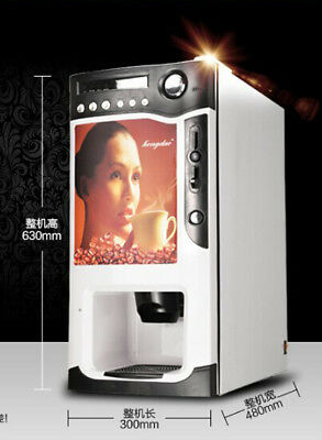 CE Certified 3 Flavor Coffee Juice Milk COIN OPERATED Vending Machine BRAND NEW