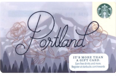 Newest STARBUCKS Portland Oregon Gift Card, New Mint, 2016, Unused