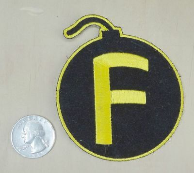 "BOMB THE "" F "" BOMB IRON-ON / SEW-ON EMBROIDERED PATCH 2 7/8""""x 3 1/4"""