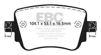 EBC Greenstuff Rear Brake Pads for Skoda Octavia (5E) 2.0 TD (150 BHP) (2013 on)