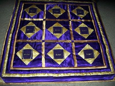"Crown Royal Lap quilt 61 1/2"" x 64""  Down with Crown Royal bags,   NEW"