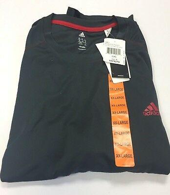 Adidas Climalite Men's Performance T-Shirt - Grey - M L XL & 2XL *NEW W/ TAGS*