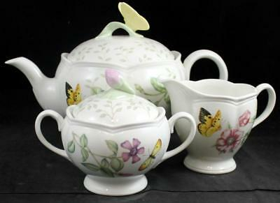 Lenox China BUTTERFLY MEADOW 3 Piece Assortment GREAT CONDITION w/mfg tags