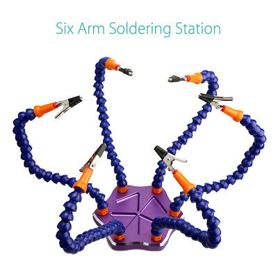 6-Arm Helping Hands Soldering Welding Tool Workstation 6Pcs Clip for RC Racing