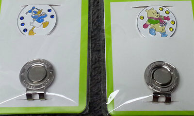 Donald & Winnie 2x HAT CLIP MAGNETIC MARKER suit Caps or Visors Free Delivery