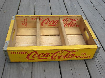 Vintage 1966 Coca Cola Coke Wooden Crate Wood Box Dividers Good Condition NOS