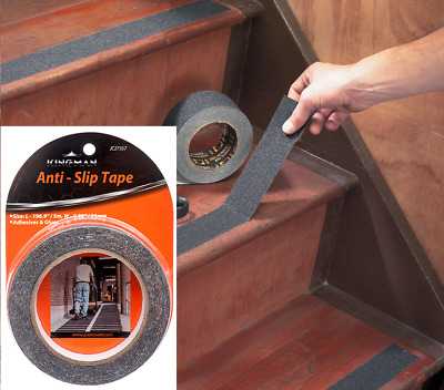 Anti Slip Non Skid High Traction Safety Grit Grip Tape Strips Adhesive Back 196""