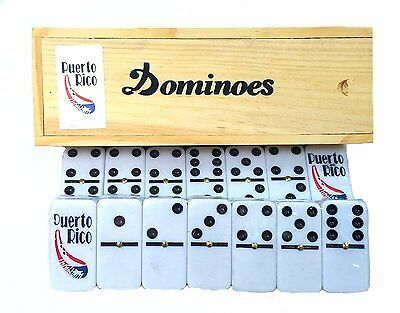 Big Puerto Rico Double Six Dominos Boricua Professional Size Dominoes