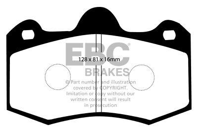 EBC Yellowstuff Front Brake Pads for TVR Tamora 3.6 (2001 > 06)