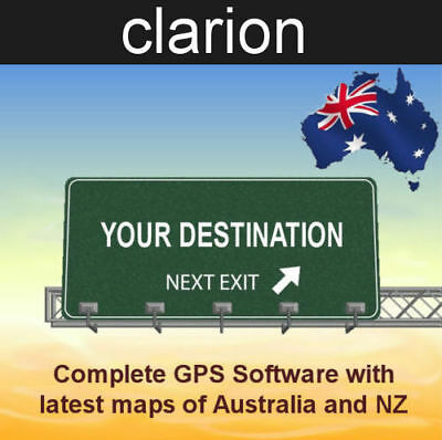 2018 GPS Software for Clarion GPS units with latest Australian and NZ maps
