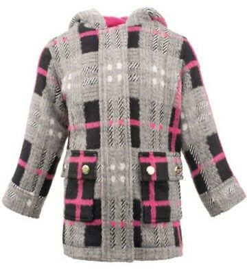 b1320ae7666 Mode für Mädchen Madden Girl NWT Faux Wool Jacket Pea Coat Toggle Hood  Buttons 18 Mo ...