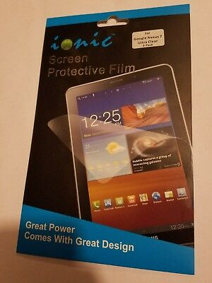 Wholesale lot google nexus 7 screen protective film 48 NEW package 3 pack retail