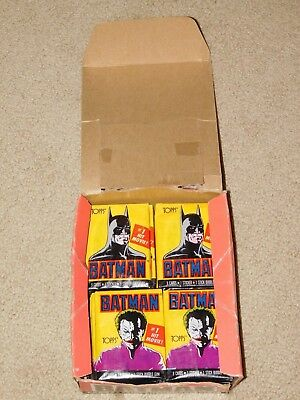 21 - 1989 TOPPS BATMAN 1ST SERIES SINGLE WAX PACKS (New - Sealed)