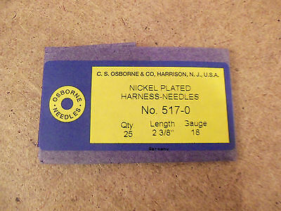 518-7 Size 7 Made in USA Osborne Pack of 25 Glovers Needles #518 C.S