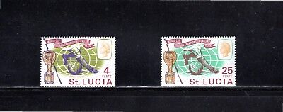 St Lucia 1966 World Cup Football Championship SG 222/3 MUH
