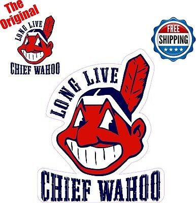 Cleveland Indian Long Live Chief Wahoo Car Sticker Decal