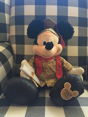"Vintage 18"" 2008 Graduation Plush Mickey Gold Cap&Gown"