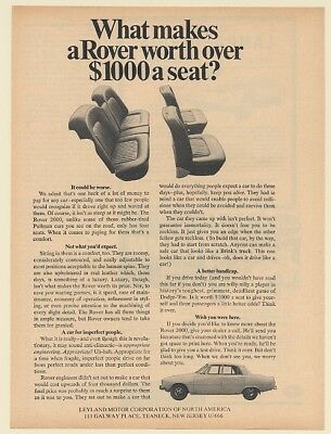 1968 Rover 2000 Worth Over $1000 a Seat Leyland Motor Corp Print Ad