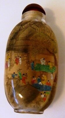 Vintage Chinese Interior Painted Glass Snuff Bottle