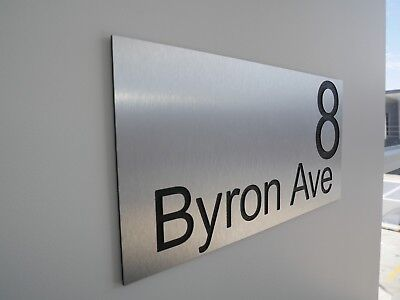 CUSTOM 400 x 200 Street Name HOUSE SIGN PERSONALISED Address PLAQUE House NUMBER