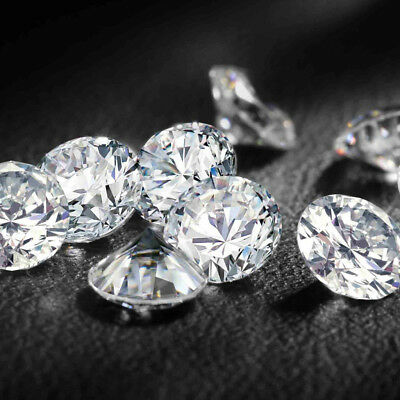 Fiery 7.5 MM 1.45 Carat Full White Round Brilliant Cut Genuine Loose Moissanite
